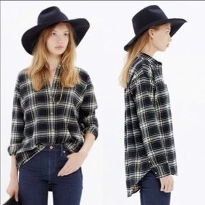 Madewell Flannel Trapeze Shirt